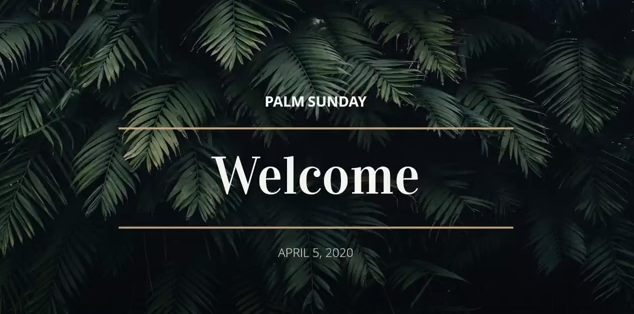 April 5 – Palm Sunday – Collaborative Worship